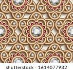 vintage diamond jewelry pattern ... | Shutterstock .eps vector #1614077932