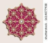 vintage gold jewellery mandala...   Shutterstock .eps vector #1614077938