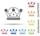 crown diadem in multi color...   Shutterstock .eps vector #1614079045