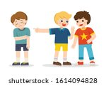 boy student getting bullied in... | Shutterstock .eps vector #1614094828