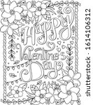 happy valentine's day font... | Shutterstock .eps vector #1614106312
