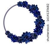 Succulents in classic blue ...