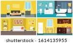 set of vector interiors with... | Shutterstock .eps vector #1614135955