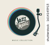 vector jazz music poster with...   Shutterstock .eps vector #1614145915