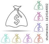 finance bag of money in multi...