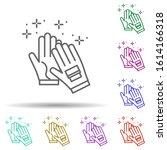 diving gloves in multi color...