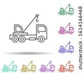 crane vehicle in multi color...