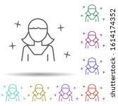 girl child avatar multi color...
