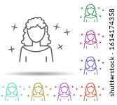 woman avatar multi color style...