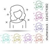 woman actor avatar multi color...