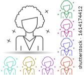 girl student avatar multi color ...