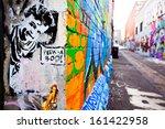 melbourne   oct 25  street art... | Shutterstock . vector #161422958