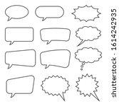 speech bubble  speech balloon ... | Shutterstock .eps vector #1614242935