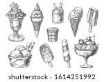set of isolated ice cream... | Shutterstock .eps vector #1614251992