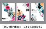vector collection of trendy... | Shutterstock .eps vector #1614258952