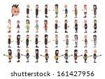 adorable full body cartoon guy... | Shutterstock .eps vector #161427956