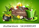 st. patrick's day header or... | Shutterstock .eps vector #1614300145