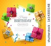happy birthday celebration... | Shutterstock .eps vector #1614300148