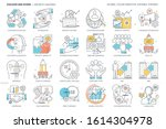 growth hacking related  color... | Shutterstock .eps vector #1614304978