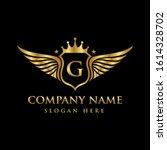 luxury royal wing letter g... | Shutterstock .eps vector #1614328702