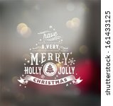 christmas typography ... | Shutterstock .eps vector #161433125