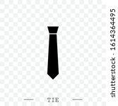 tie icon black flat vector...