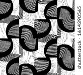 grunge halftone black and white ... | Shutterstock . vector #1614390565