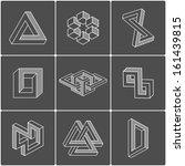 geometric optical illusion... | Shutterstock .eps vector #161439815