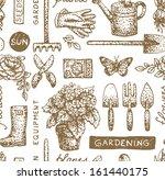gardening seamless pattern | Shutterstock .eps vector #161440175