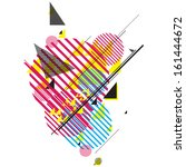 modern futuristic composition... | Shutterstock .eps vector #161444672