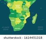 Southern Africa Map   Green Hu...