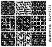vector pattern set | Shutterstock .eps vector #161445278