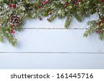 winter background   blue... | Shutterstock . vector #161445716