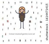 heavy metal musician icon....   Shutterstock .eps vector #1614471415