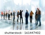 abstakt image of people in the... | Shutterstock . vector #161447402