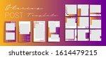 design backgrounds for social...   Shutterstock .eps vector #1614479215