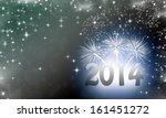 2014 written on abstract... | Shutterstock . vector #161451272