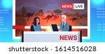 breaking news reporters live... | Shutterstock .eps vector #1614516028