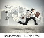 concept of fast business with...