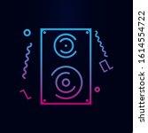 audio speaker line nolan icon....