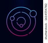 solar system line nolan icon....