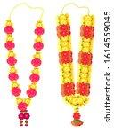 indian flower garland mala for... | Shutterstock .eps vector #1614559045