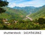 Jinsha River. Taken in the way from Lijiang, Yunnan to Panzhihua, Sichuan, China. The jinsha river is upriver of Yangtse river.