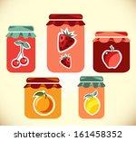 jams vector collection.... | Shutterstock .eps vector #161458352