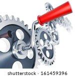3d illustration of a progress... | Shutterstock . vector #161459396