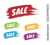 colorful set of sale brushed...   Shutterstock .eps vector #1614594655