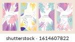 vector set of abstract creative ...   Shutterstock .eps vector #1614607822
