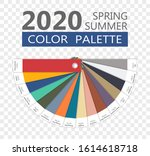 round spring and summer 2020... | Shutterstock .eps vector #1614618718