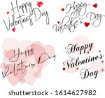 set of valentine's day black... | Shutterstock .eps vector #1614627982