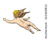 cupid. angel  vector... | Shutterstock .eps vector #161463812